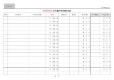 XX公司图书借阅登记表(范本)