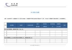 5S培训计划表