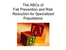 The ABCs of Fall Prevention and Risk Reduction for ...