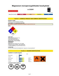 Section 1 - CHEMICAL..