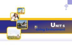 Unit 6 Living Environment 生存环境