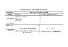 项目单位需求表
