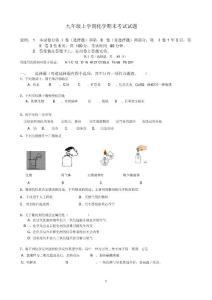 重点中学初三化学期末考试试题(含标准答案)人教版