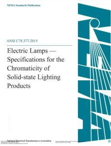 ANSI C78.377-2019 American National Standard for electric lamps - Specifications for the Chromaticity of Solid State Lighting Products.pdf