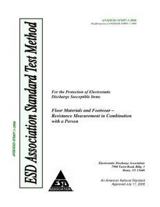 ansi esd stm97.1-2019静电放电敏感物件的保护 地面和鞋类 人体综合阻值测量.pdf