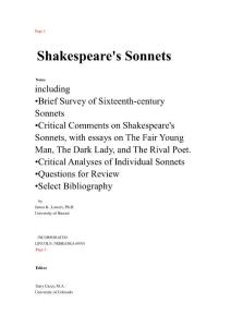 A collection of Shakespeare´s poems (sonnets)