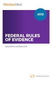 Federal Rules of Evidence(美国联邦证据规则)