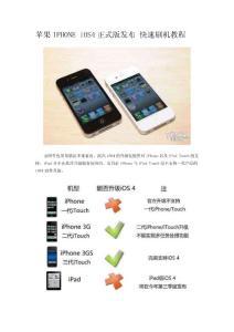 苹果IPHONE iOS4正式版发布 快速刷机教程