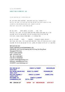 上海近洋散货船名录以及自..
