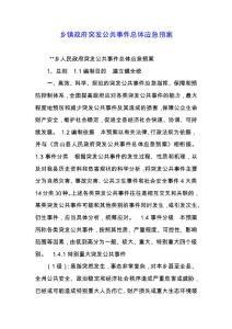 乡镇政府突发公共事件总体应急预案.docx