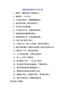 消防安全宣传口号20句.docx