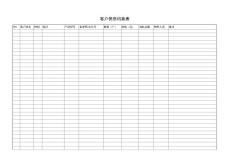 客户信息档案表