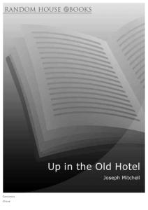 Joseph Mitchell - Up in the Old Hotel (epub)