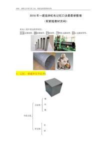 2018年一建机电记忆口诀最新整理(配页码)