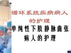 单纯性下肢静脉曲张病人的护理ppt培训课件