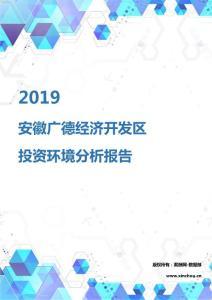 2019年安徽广德经济开发区投资环境报告.pdf