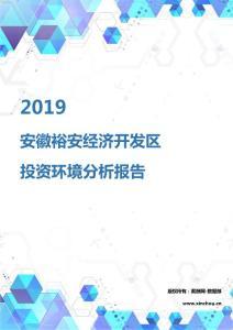 2019年安徽裕安经济开发区投资环境报告.pdf