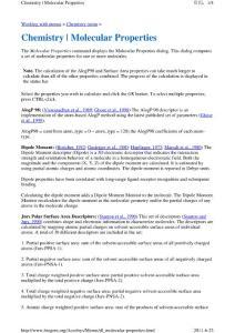 Chemistry Molecular Properties