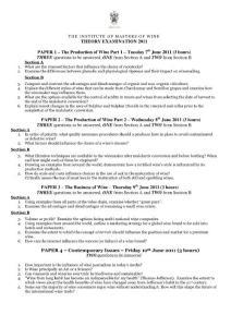 The 2011 MW exam - practical 葡萄酒大师考试试题