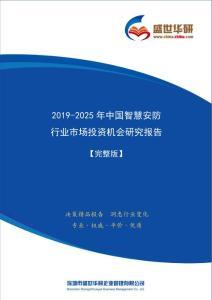 【完整版】2019-2025年中國智慧安防行業市場投資機會分析報告