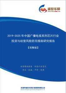 【完整版】2019-2025年中國廣播電視系列芯片行業投資與經營風險防范措施研究報告