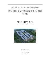 德兴市新岗山镇甲基丙烯酸甲酯生产线建设项目可行性研究报告模版