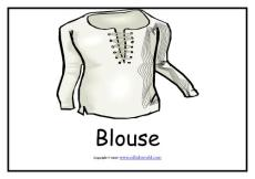 衣物英文单词卡片