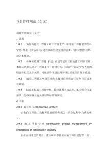 项目管理规范(全文)