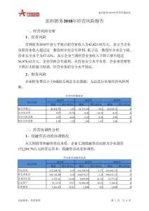 雷科防务2018年经营风险报告-智泽华