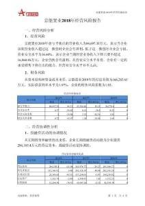 京能置业2018年经营风险报告-智泽华