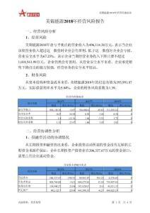 美锦能源2018年经营风险报告-智泽华