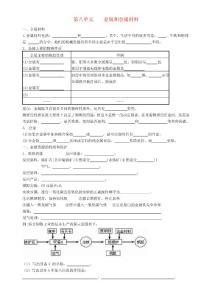 江苏省南京市第六中学九年级化学《金属和金属材料》学案 人教新课标版