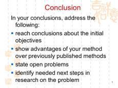 学术英语conclusion结论的写作