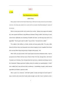英语泛读教程2(第三版)上课文+译文(Unit1-7)