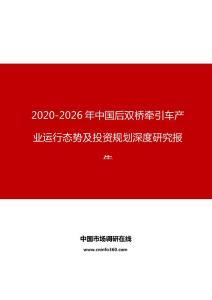 2020年中国后双桥牵引车产业运行态势及投资规划深度研究报告