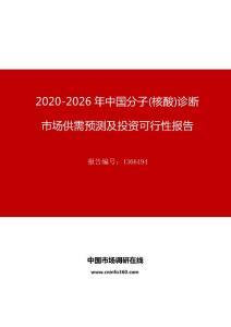 2020年中国分子(核酸)诊断市场供需预测及投资可行性报告