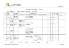 阻火过滤器安全检查分析SCL评价表