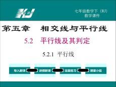 20春七数下(RJ)--1配套精品教学课件 5.2.1 平行线
