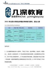 2021年北京大学政治学理论考研复习资料、招生人数