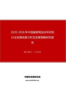 2020年中国破碎筒加水环切机行业发展前景分析及发展策略研究报告