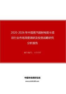 2020年中国蒸汽喷射电熨斗项目行业市场深度调研及投资战略研究分析报告