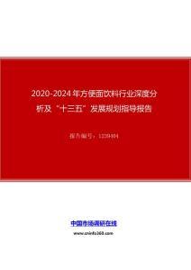"""2020年方便面饮料行业深度分析及""""十四五""""发展规划指导报告"""