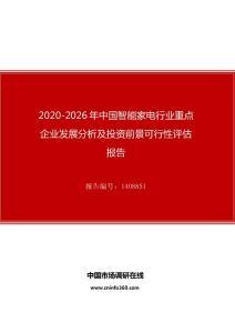 2020年中国智能家电行业投资前景可行性评估报告