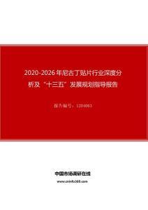"""2020年尼古丁贴片行业深度分析及""""十四五""""发展规划指导报告"""