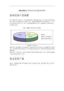 2020-2024年中国海洋渔业发展分析预测