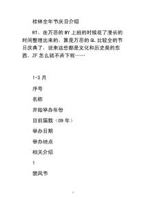 桂林全年民俗节庆大全
