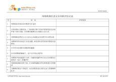 网络构架信息安全风险评估记录表