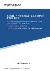 2020-2025年中国智慧交通行业发展前景与投资预测分析报告