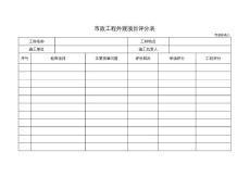 市政附表八市政工程外观项目评分表