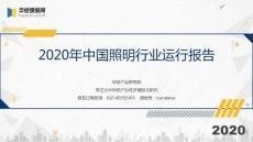 2020年中国照明行业运行报告